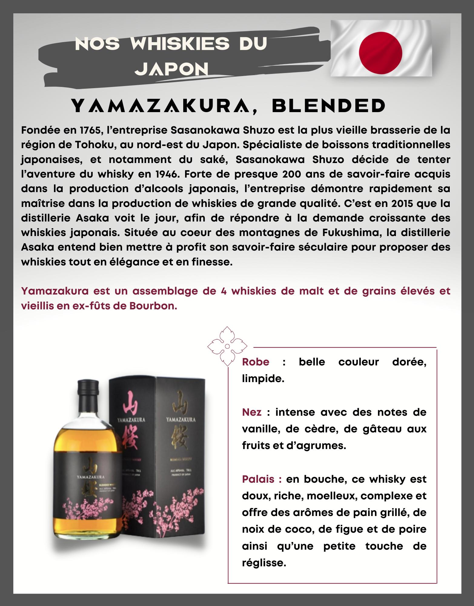 YAMAZAKURA, Blended