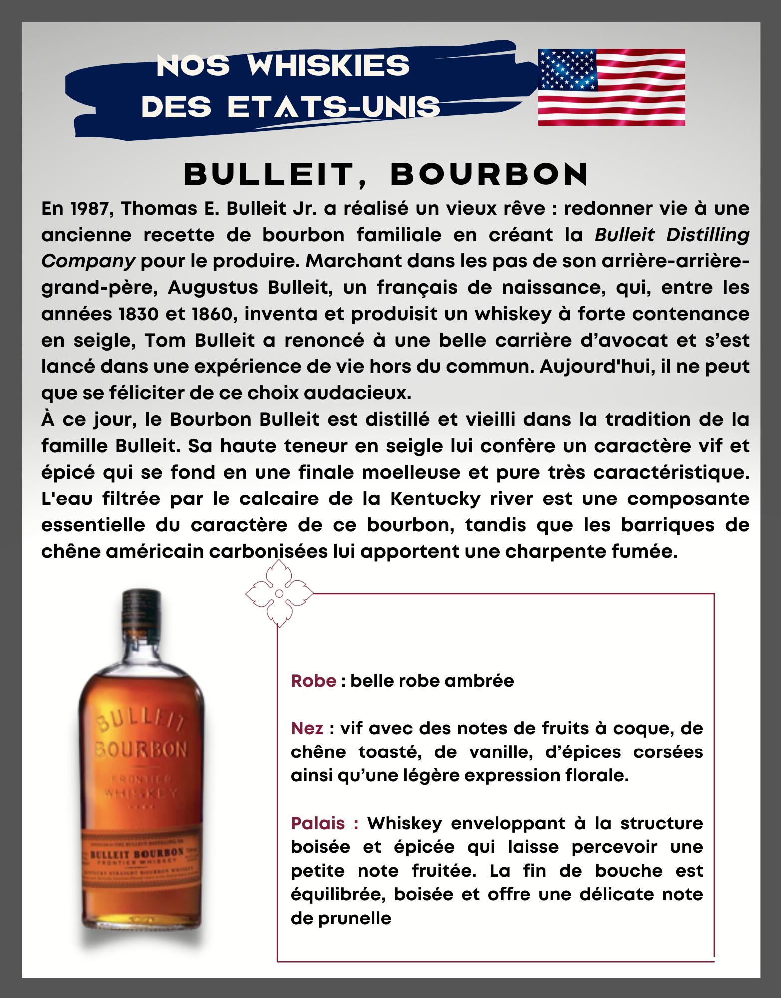BULLEIT, Bourbon