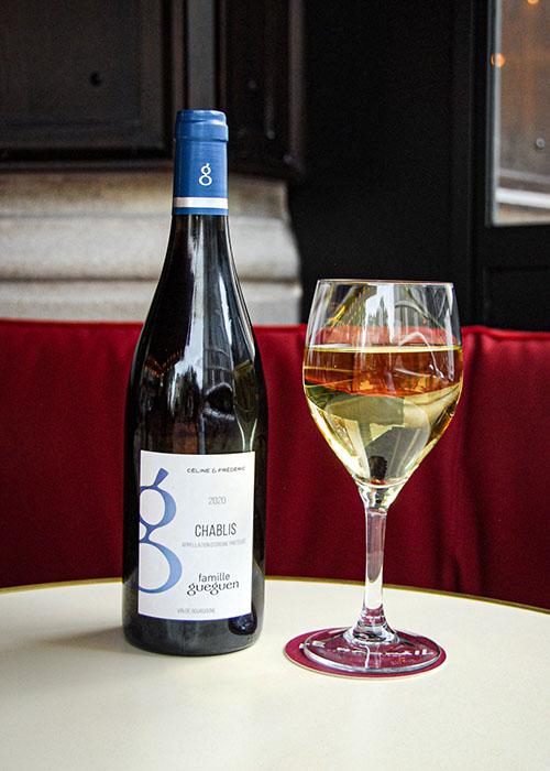 Vin blanc café Raspail Paris