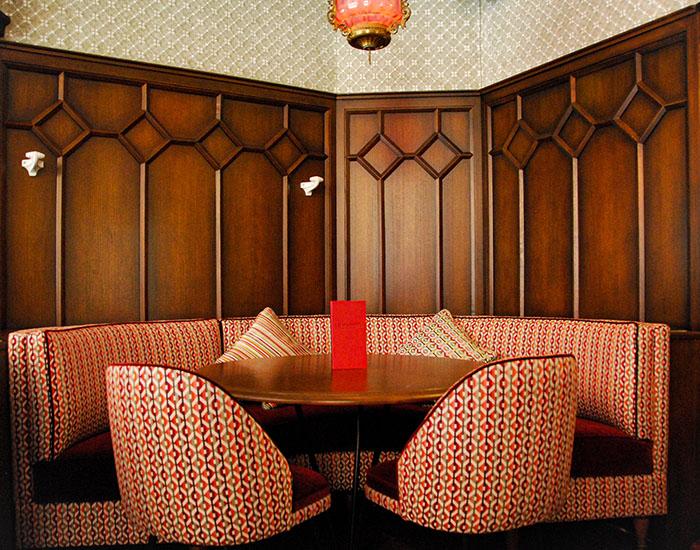 banquette café Raspail Paris